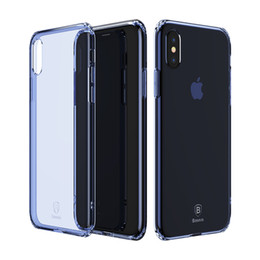 Wholesale baseus iphone case - Baseus For iPhone X Defender Case High Impact Heavy Duty Hard Rugged Rubber Simple Series Case Anti-fall TPU Transparent Case for iPhone X