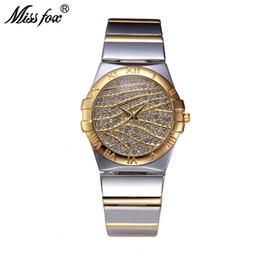 5aac7a7b9c8672 Fräulein Fox Female Uhren Frauen Handgelenk Luxus 2017 Hot Damenuhr Gold  Mit Steinen Berühmte Marken Mit Logo Mode Lässig Uhren stein markenuhren ...