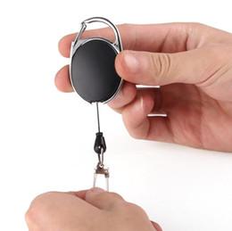 2019 kunststoff-einsatzständer Hohe qualität Versenkbare Pull Key Ring Kette Reel ID Lanyard Namensschild Karte Abzeichen Halter Reel Recoil Gürtel Schlüsselanhänger Ring Clip