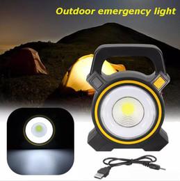 Luzes solares Alimentado USB Portátil 30 W Lanterna Holofotes LEVOU COB Spot Recarregável LEVOU Luz de Inundação Ao Ar Livre Trabalho Spot Lâmpada 2400Lm de Fornecedores de esgrima subterrânea