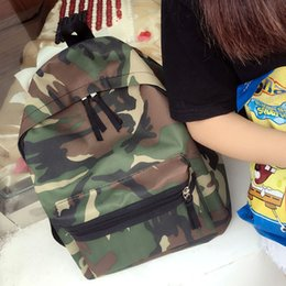 Wholesale Mouse Backpack - YOUYOU MOUSE Fashion Army Men Backpacks Canvas Print School Backpack Bags For Teens Boys Camouflage Pattern Casual Backpack