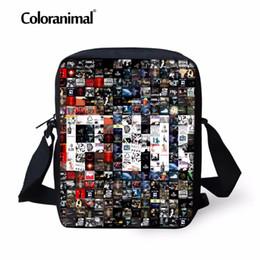 Wholesale picture puzzles kids - Coloranimal 3D Print Primary Small Messenger Bags Hop-hip Picture Puzzle Men's Daily Cross Body Bags Children Kids Shoulder Bag