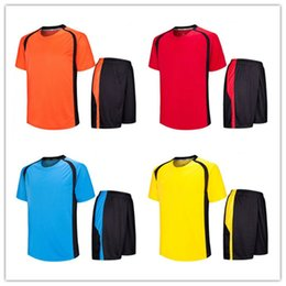 Wholesale Cheap Soccer Uniforms Kits - AL-418-Adult Blank Soccer Jersey Kits Cheap MEN Diy Soccer Jersey Uniforms Youth Short Sheeve Football Trainning Sport Kits