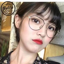 Wholesale Korean Men Sun Glass Fashion - Sella New Retro Fashion Small Frame Women Men Glasses Eyewear Korean Style Colorful Tint Clear Lens Alloy Frame Sun Glasses Wear