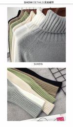 Deutschland Frauen-Strickjacke-Frauen-Rollkragen-Strickjacke-Winter 2018 neues Entwurfs-Grün-starkes Trikot und Pullover-weibliche Pullover-Oberteile LU405 Versorgung