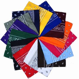 Wholesale Light Yellow Scarf - 2018 Unisex Fashion Vintage Style Men Women Paisley Bandana Cotton Head Wrap Neck Scarf Wristband Handkerchief Pocket Towel