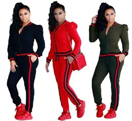 Wholesale Women Sweat Suit Tracksuit - Two Piece Set 2018 Tracksuit Women Full Sweat Suits Long Sleeve Top + Pants 2 Piece Set sportwear casual set for Women