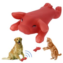 pet rubber Australia - Pet Dog Toy Rubber Roasted Pig Squeak Squeaker Chew Toy Screaming Press Sound Toys for Dogs Cats Puppy Pet Products for Dogs