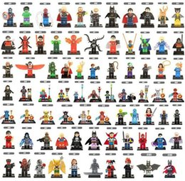 Wholesale Hero Toys - Wholesale minifigures Super Heroes Avengers Spiderman Space Wars Harry Potter Hobbit Figure Super Hero Mini Building Blocks Figures Toys