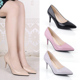 2017 Femmes Escarpins De Mode Sexy Bout Pointu Doux Coloré Mince Talons Hauts Femme Chaussures Nude Femmes Chaussures à Talons Hauts chaussures simples ? partir de fabricateur