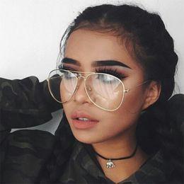 9b021c8587 2018 New Designer Woman Glasses Optical Frames Metal Round Glasses Frame  Clear lens Eyeware Black Silver Gold Eye Glass