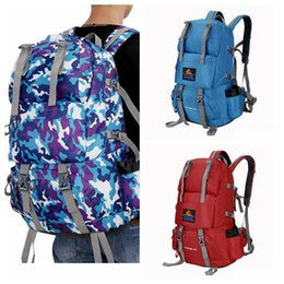 Wholesale Large Travel Hiking Backpacks - Sports Hiking Backpack Climbing Camping Backpack Waterproof Ultra light And Large Capacity Collapsible Outdoor Bag 8 Colors DDA77