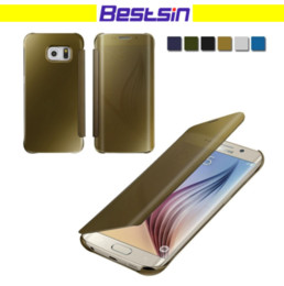 Wholesale Function Flip - Luxury Mirror View Flip Function Screen Protective Shockproof Case for Iphone 7 6s 8 8 Plus Samsung S7 S8 DHL Free Shipping