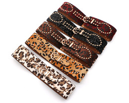Nuevo Cinturón de las mujeres Elegante Hebilla de plata Amplia elástica Corsé elástico Cinturones Cinturones Accesorios de ropa desde fabricantes