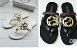 Wholesale Woman Sandals Summer Slippers - New Luxury Brand Woman kids Fashion beach shoes sandals Ladies slippers Summer new casual slippers Flat sandals Children's jacket free shipp