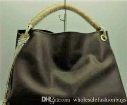 Wholesale purse handles leather - Top quality oxidizing genuine leather women top handle hobo handbag tote bag purse ARTSY style design