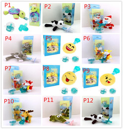 Wholesale Natural Silicone - 2018 Baby pacifier baby hanging animal plush toys suit variety of dolls wholesale MZ005