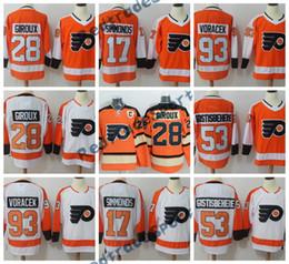 fc1d3be09 2018 AD Philadelphia Flyers Eishockeytrikots 28 Claude Giroux Winter  Classic 53 Shayne Gostisbehere 17 Wayne Simmonds 93 Jakub Voracek Trikots