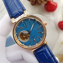 Wholesale Watch Female Mechanical - Top luxury brand women watches casuall mechanical automatic wristwatch leather strap fashion female watch for laides best gift relojes mujer