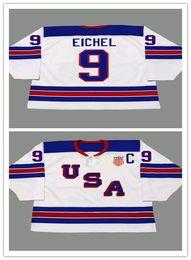 Argentina Personalizado 9 JACK EICHEL 2014 EE. UU. Retro Vintage Hockey Jerseys Barato Hombres Cosido Deportes Uniformes Buena Quanlity Orden de la Mezcla supplier sport uniform cheap Suministro
