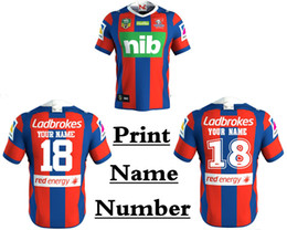 Wholesale Wine Transfer - NEWCASTLE KNIGHTS 2018 HOME JERSEY NRL National Rugby Newcastle Knights jersey High-temperature heat transfer printing S-3XL (Can print)