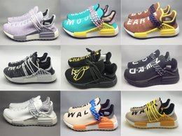 Wholesale tennis led - 2018 NMD HOT Human Fashion Race shoes Colorful Men Women Leading Fashion Trends Top Quality Sport Sneakers Causal Running Shoes