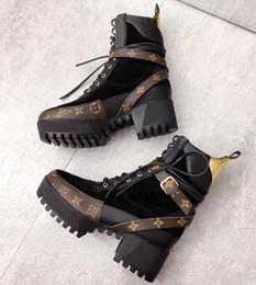 Deutschland Laureate Platform Desert Boot Luxury Brand Leder Knöchel Martin Schnürstiefel Chunky Heel Kuh Leder Designer Winterstiefel mit Box Versorgung