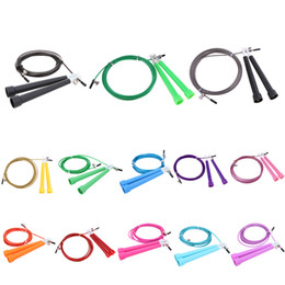 Wholesale Crossfit Speed Ropes Wholesale - 3M 3 Meter Jump Skipping Ropes Cable Steel Adjustable Fast Speed ABS Handle Jump Ropes Crossfit Training Boxing Sports Exercises