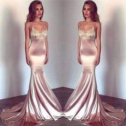7951d92c3e3 dark red spaghetti top Promo Codes - 2018 Sexy Straps Spaghetti Scoop  Neckline Mermaid Prom Dresses