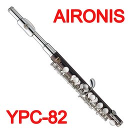 Wholesale Nickel Resin - AIRONIS Japan Professional Piccolo YPC-82 Nickel Silver Plated ABS Resin C Tone Closed Hole Metal Head Piccolo Precise Keys