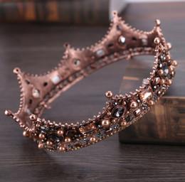 elegantes diademas hechas a mano Rebajas Las mujeres elegantes de la boda de la novia Crown Headwear Rhinestone Tiaras Cute Fashion Crystal diadema tiara de la novia accesorios para el cabello hechos a mano