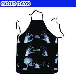 games for bar Promo Codes - Mysterious Skull men's Apron For Kitchen Game Party Bar Restaurant Apron Outdoor Barbecue Wedding Funny Apon
