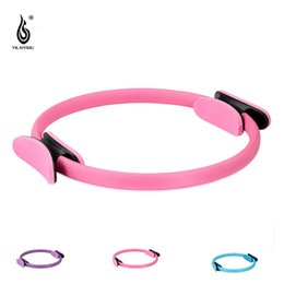 Wholesale Muscle Building Gym - New Dual Grip Pilates Ring Magic Circle Muscles Body Exercise Yoga Fitness Tool Home Circle Gym Body-building