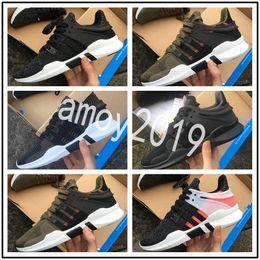 Wholesale core leather - 2018 New EQT Support shoes Men Women Running Shoes Sneakers Mens trainers Black Primeknit White Core Eqts Sports Shoes Size 36-44