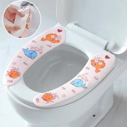 Couvre-siège de toilette en Ligne-Tapis de toilette collant coussin housse de protection housse de siège de toilette doux réutilisable tiède lavable santé accessoires de salle de bains