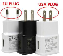chargeur de téléphone lumière bleue Promotion Livraison gratuite DHL 100 pcs Portable 5V 2A Adaptateur Charge rapide USB Chargeur Adaptateur EU US Plug pour Samsung Galaxy S7 S6 Bord Edge + Note 4 Note5
