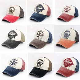 44f5785c1c1 New Fashion Baseball Caps High Quality Cotton Trucker Hats Retro Washed  Ball Hat Popular Frayed Leisure Hat Printed Daddy Hats