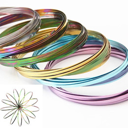 Wholesale holidays year - 10 Colors Toroflux Flow Ring Novelty Toys Stress Relief Bracelets Fidget Spinner Beyblade Burst Toys for Adults Party Decoration