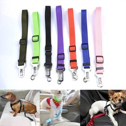 Wholesale Dropshipping Pet - Free Dropshipping Colorful Adjustable Pet Dog Safety Seat Belt Nylon Pets Puppy Seat Lead Leash Dog Harness Vehicle Seatbelt