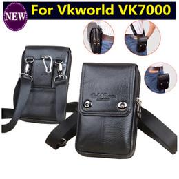 capa de telefone celular duplo Desconto Dupla bolsos com zíper carteira de couro genuíno carry belt clipe bolsa de cintura bolsa case capa para vkworld vk7000 sacos de telefone celular