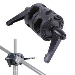Wholesale Head Boom - Supon Swivel Dual Head Grip Holder Bracket for Photo Studio Boom Reflector Arm Support