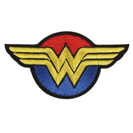 Wholesale Embroidery Garment - Wonder Woman Embroidery Patches For Clothing Superhero Sew Iron On Applique Patch DIY Badge Garment Decoration