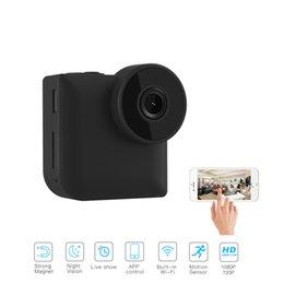 Micro caméra de contrôle sans fil en Ligne-C3 Mini WiFi IP Caméra Sans Fil P2P Télécommande Vision Nocturne Mini Caméscope En Plein Air HD 720P Micro Action C1 Mini Caméra