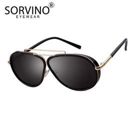 3bf109fe403 SORVINO Oversized Mirror Pilot Sunglasses 2018 Men Brand Designer Vintage  Trendy Big Pink Blue Aviation Gafas de sol Shades SP203 hombres espejo azul  marca ...