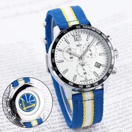 Wholesale nylon ribbon designs - HOT men sport watch design for Basketball team fans all function work quartz watches 1853 date ribbon strap Tag wristwatch