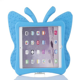 Wholesale China Kids Tablets - Hot EVA Shockproof Case for iPad Mini 1 2 3 Cartoon Butterfly Stand Tablet Cover for iPad Mini Kids Safe Cases