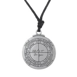 Wholesale Wicca Amulet - whole saleMinimal Double sided Talisman For Good Luck of Solomon Pentacle Seal Pendant Necklace Jewelry wicca Tlisman amulet for man
