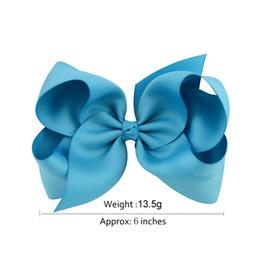 baby girl bows diy 2018 - 20pcs lot 6 Inch Large Kids Baby Girl Grosgrain Ribbon Bow Clips DIY Headdress Children Hair Accessories 588