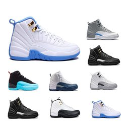 Wholesale French Style Fashion - Hot sale Retro 12 Wool Black Grey FLU game TAXI French blue gym red wolf Grey Playoff Gamma Blue GS Barons fashion style