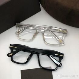 Marcos para prescripción online-Gafas de sol unisex de alta calidad TF681-F montura de escuadra cuadrada de gran cuadrado conciso montura de gafas 50-20-145 importadas estuche completo de planchas puras